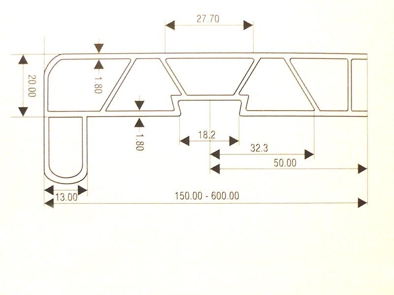 Vnitřní parapety PVC-1
